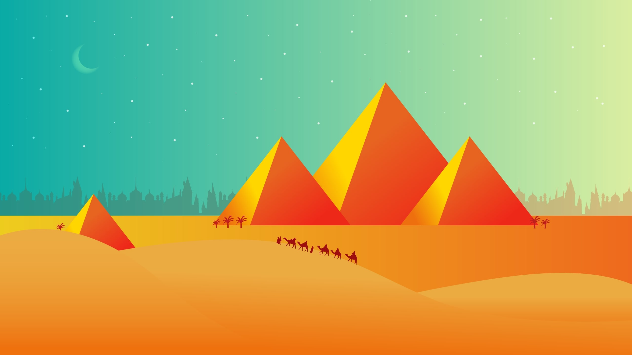Pyramids Graphic Art
