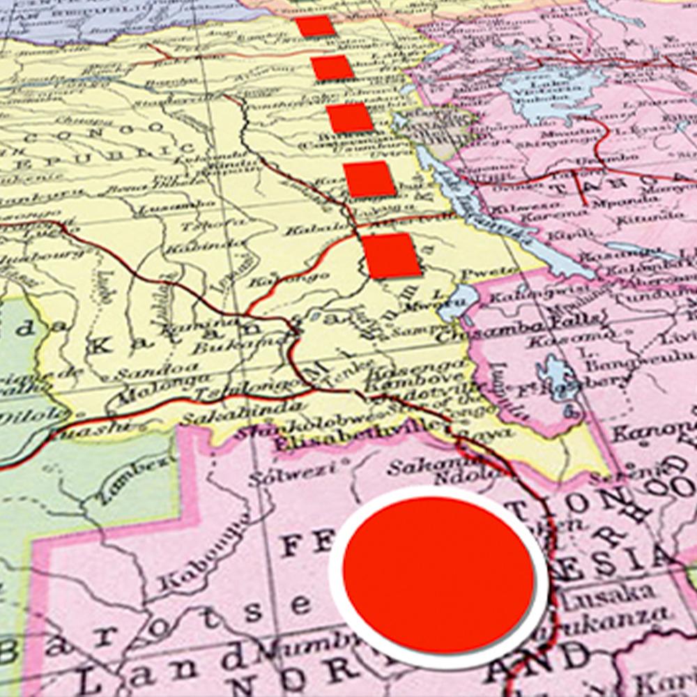 Zambia Map Graphic Animation
